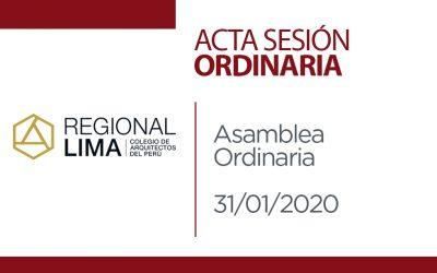 ACTA SESIÓN ORDINARIA 31.01.2020
