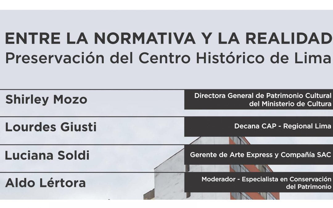 Conversatorio: Entre la Normativa y la Realidad| NotiCAPLima 010-2021
