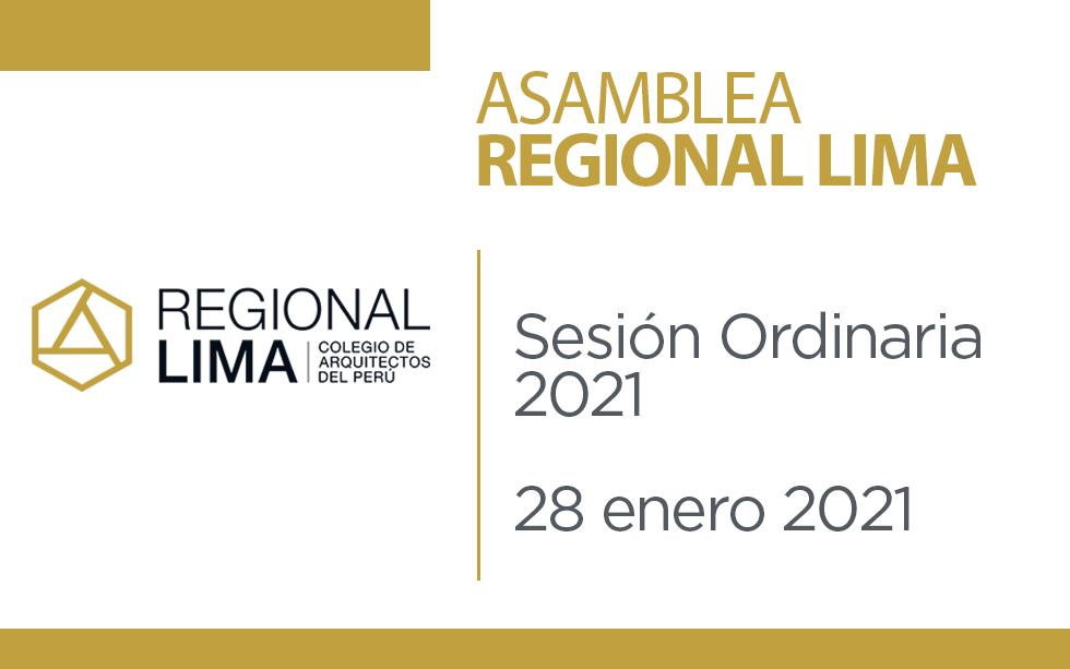 Asamblea Regional Lima: Sesión Ordinaria 2021 | NotiCAPLima 020-2021