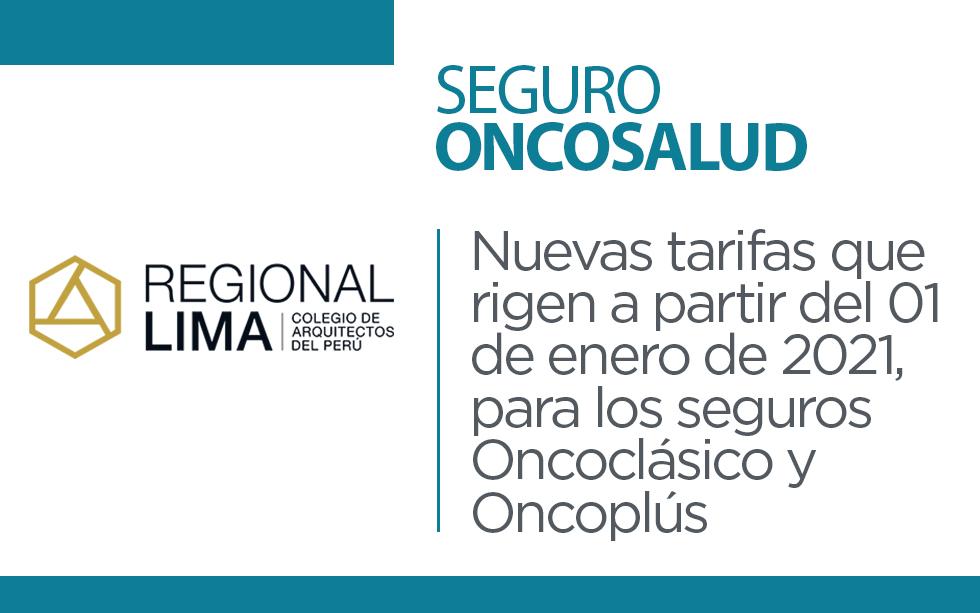 Oncosalud: Nuevas tarifas | NotiCAPLima 013-2021