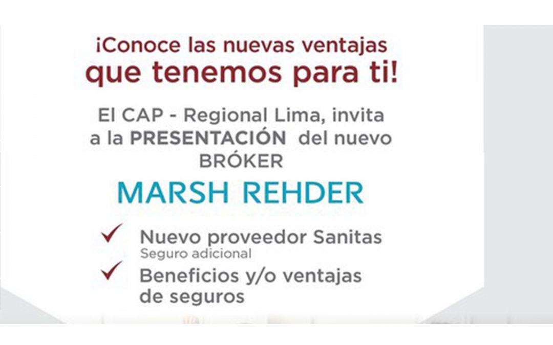 Charla informativa para Agremiados: Presentación del nuevo Bróker de Seguros | NotiCAPLima 014-2021