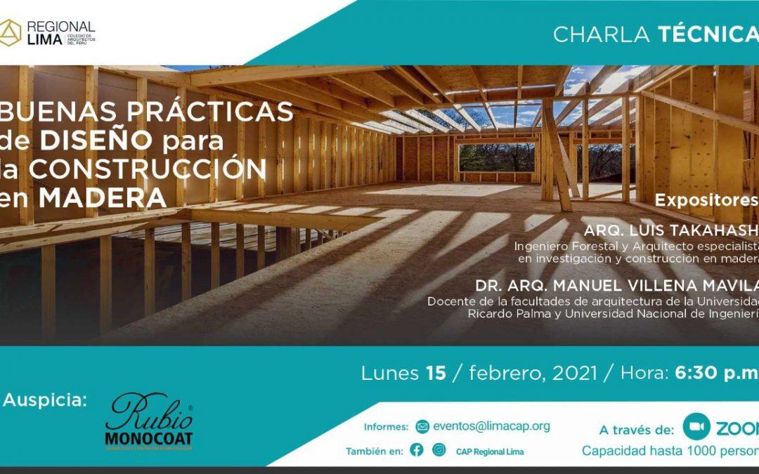 Buenas Prácticas de Diseño para la Construcción en Madera | 15 Febrero