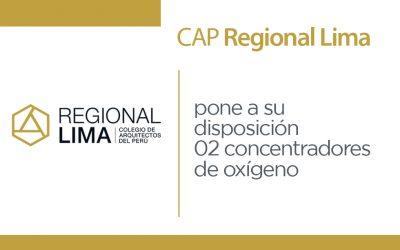 Comunicado: El CAP Regional Lima pone a su disposición 02 concentradores de oxígeno | NotiCAPLima 029-2020