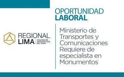 MTC requiere de especialista en Monumentos Históricos | NotiCAPLima 034-2021