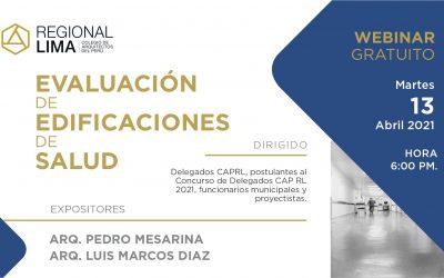 Webinar gratuito: Evaluación de Edificaciones de Salud | NotiCAPLima 086-2021