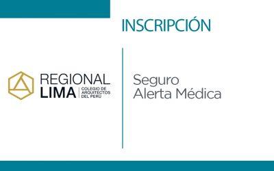 Inscripción Seguro Alerta Médica | NotiCAPLima 058-2020