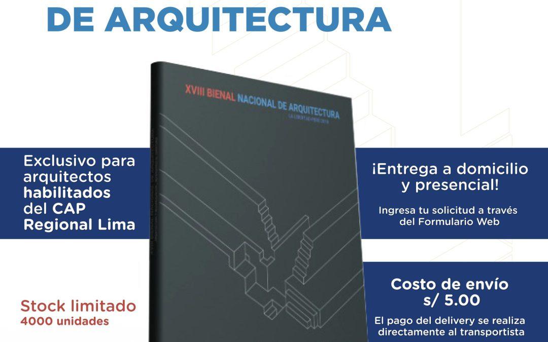 Solicitud: Libro de la XVIII Bienal Nacional de Arquitectura y Urbanismo