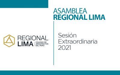 Asamblea Regional Lima – Sesión Extraordinaria 2021 | NotiCAPLima 119-2021