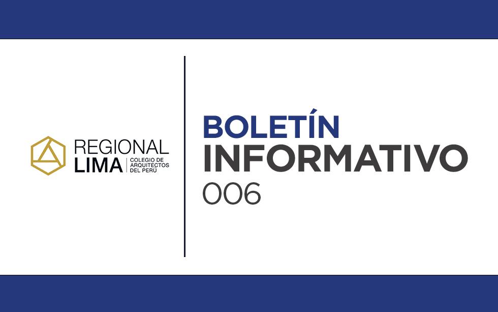 Entérate de las noticias y próximos eventos del CAP Regional Lima | Boletín Informativo CAPRL 006-2021