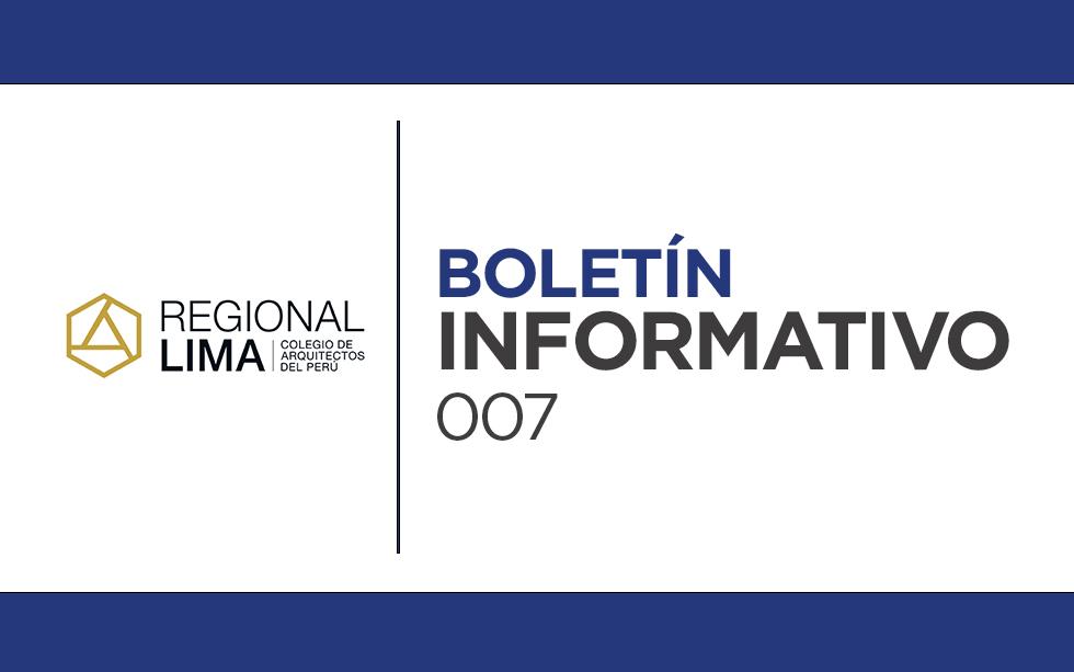 Entérate de las noticias y próximos eventos del CAP Regional Lima | Boletín Informativo CAPRL 007-2021