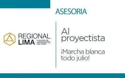 Asesoría al Proyectista CAP Regional Lima | NotiCAPLima 171-2021