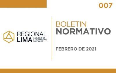 Boletín Normativo CAPLima | 007