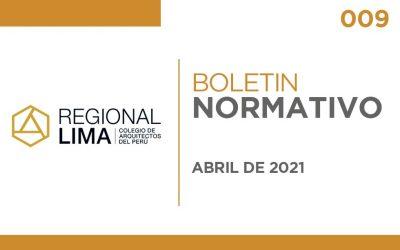 Boletín Normativo CAPLima | 009