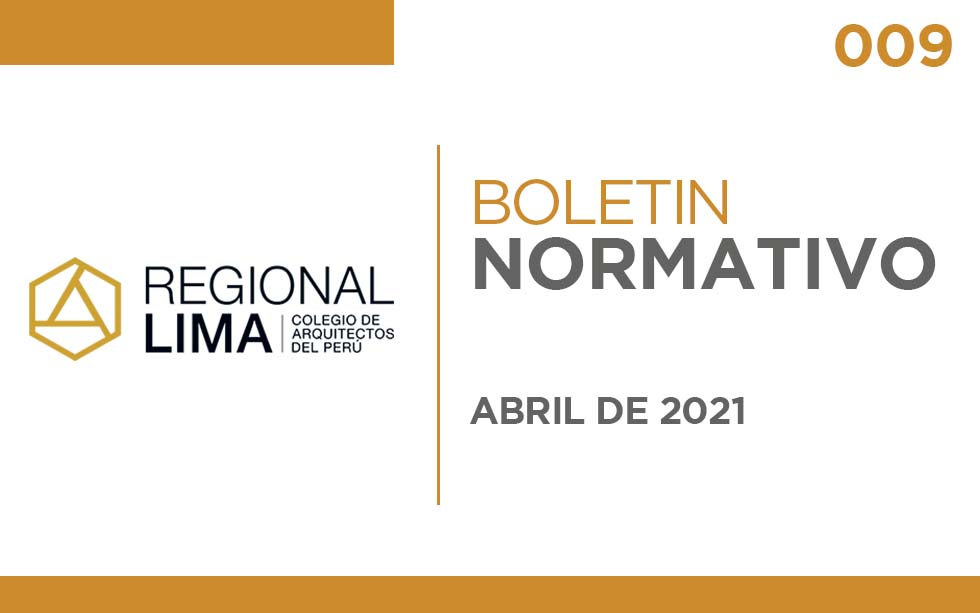 "Boletín Normativo CAPLima | 009 Normas ""Hospedaje"""