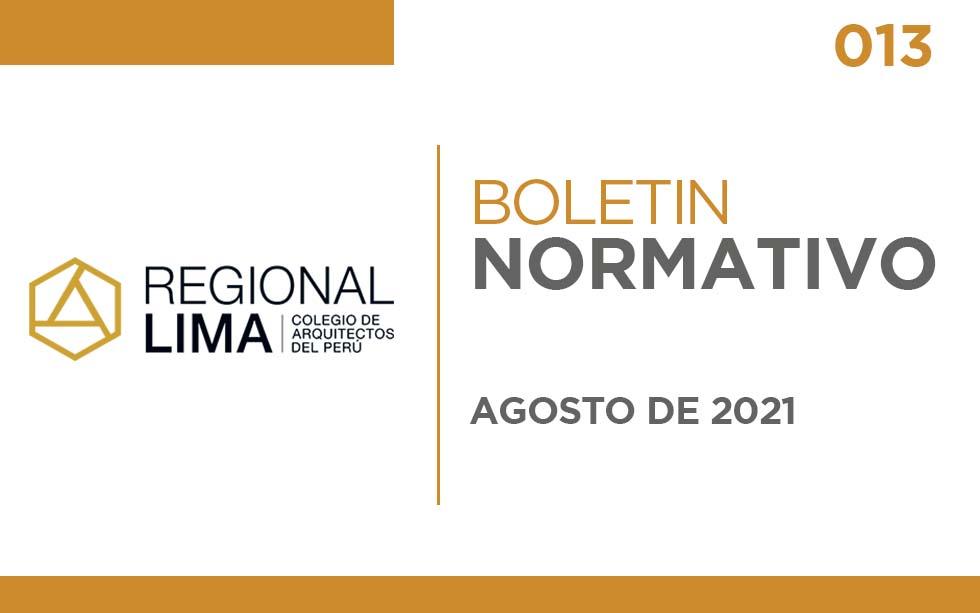 "Boletín Normativo CAPLima | 013 ""Industria"""
